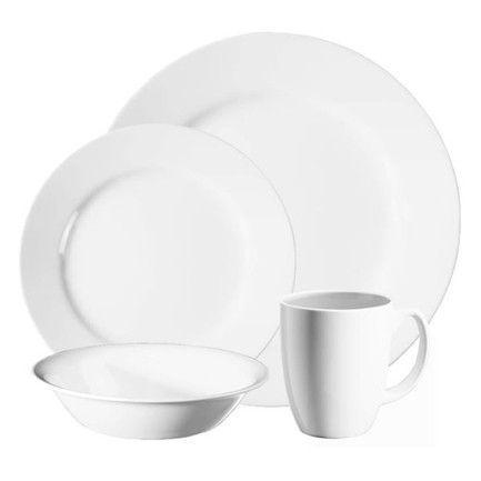 sc 1 st  Kitchen Discounts & CORELLE LIVINGWARE - DAZZLING WHITE 16 PC DINNER SET