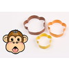 D.LINE COLOURED MONKEY COOKIE CUTTERS (SET OF 3)