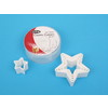 D.Line 'Cutters' - Star Cookie Cutters Set 5  - White