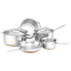 ESSTEELE PER VITA (5 pc)  COOKWARE SET  MADE IN ITALY  WITH ESSTEELE POWDER CLEANER 495GM