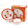 Dline Kids -  3 Pce Melamine Child's Set - Santa