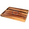 DAVIS & WADDELL ACACIA WOOD SPIKED CARVING BOARD