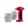 FIVE PIECE  BRULEE TORCH & RAMEKIN SET