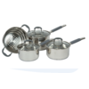 4PC COOKSET WITH GLASS LIDS