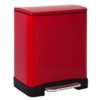RECTANGULAR STEP CAN - DELUXE - RED