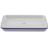 FALCON ENAMEL RECTANGLE BAKING TRAY WHITE WITH BLUE RIM( PACK OF 2)
