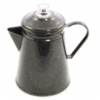 ENAMEL COFFEE POT / PERCOLATOR & KNOB  ( 15 x 22 cm )