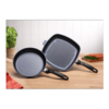 SWISS DIAMOND 2PC GRILL SET 28CM FRYING PAN AND 28CM GRILL SET