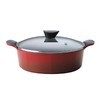 Neoflam Ecolon Venn Low Casserole - Red 28cm