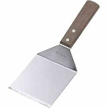 SCRAPER - GRIDDLE (S/S ; 95 x 110 mm  with wood handle)