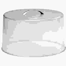 CAKE COVER (CLEAR ; CHROME HANDLE (SAN) ; 300 x 185 mm)