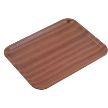 TRAY (WOOD ; 430 x 330 mm ; MAHOGANY)