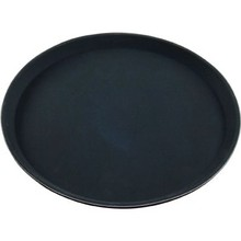 ROUND TRAY (FIBREGLASS ; NON SLIP ; 350 mm ; BLACK)