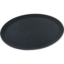 OVAL TRAY (PLASTIC ; NON SLIP ; 680 mm ; BLACK)