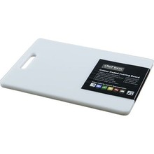 CUTTING BOARD (PP ; 250 x 400 x 12 mm ; WHITE; with handle)