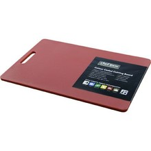 CUTTING BOARD (PP ; 300 x 450 x 12 mm ; RED ; with handle)