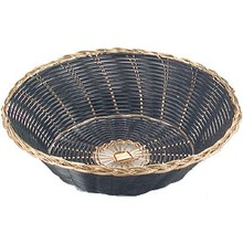 BREAD BASKET - ROUND (BLACK+GOLD)