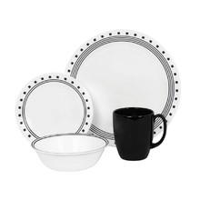 CORELLE  LIVINGWARE - CITY BLOCK 16 PC DINNER SET