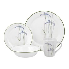 CORELLE  LIVINGWARE - SHADOW IRIS 16 PC DINNER SET