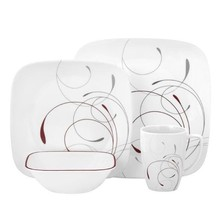 CORELLE  LIVINGWARE - SQUARE SPLENDOR 16 PC DINNER SET