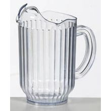 Pitcher San Plastic Ribbed Clear - 1.8lt