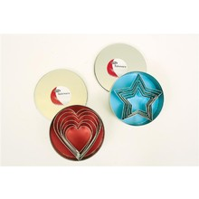 D.Line 'Cutters' - Heart Cutters Set 6 in 10cm Tin