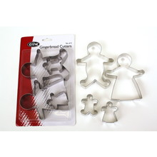 D.Line 'S/S Cutters' - Gingerbread Family Cookie Cutters Set 4