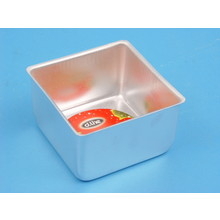 D.Line - Tin  Mini Aluminium Square Cake Pan 10cm x 6.3cm high