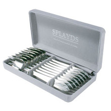Splayd Knife, fork & spoon set of 6 - Satin