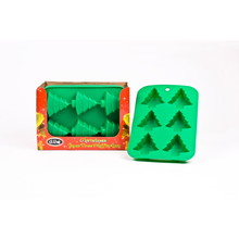 D.Line Silicone  6 Cup Xmas Tree Muffin Pan