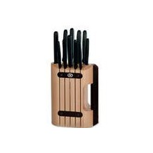 VICTORINOX 11PC KNIFE BLOCK SET WITH FREE VICTORINOX STEAK KNIFE-11CM BLACK