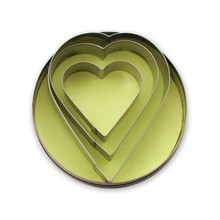 Cookie Cutter Heart Shape Set of 3 - Stainless Steel