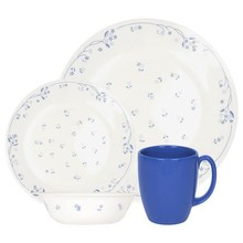 CORELLE  LIVINGWARE - PROVENCIAL BLUE 16 PC DINNER SET