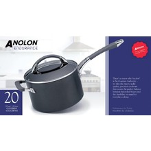 ANOLON COVERED SAUCEPAN  with HELPER HANDLE ( 20 cm ; 3.8 L ) (PACK OF X 2)