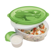 "Dline Kids -  ""Chill To Go"" Salad Bowl With Dressing Container & Cutlery"