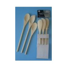 Chef's Basixx Set of 3 Wooden Spoons x 6