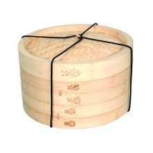 ASIA ONE, BAMBOO, STEAMER, BAMBOO STEAMER, 2 TIER, 20CM